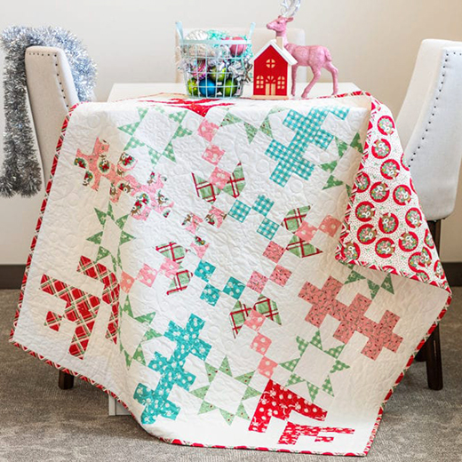 Jelly Snowflake Mystery Quilt designed by Kimberly Jolly from the Fat Quarter Shop