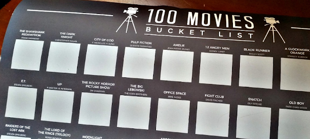 A poster with 100 movies listed