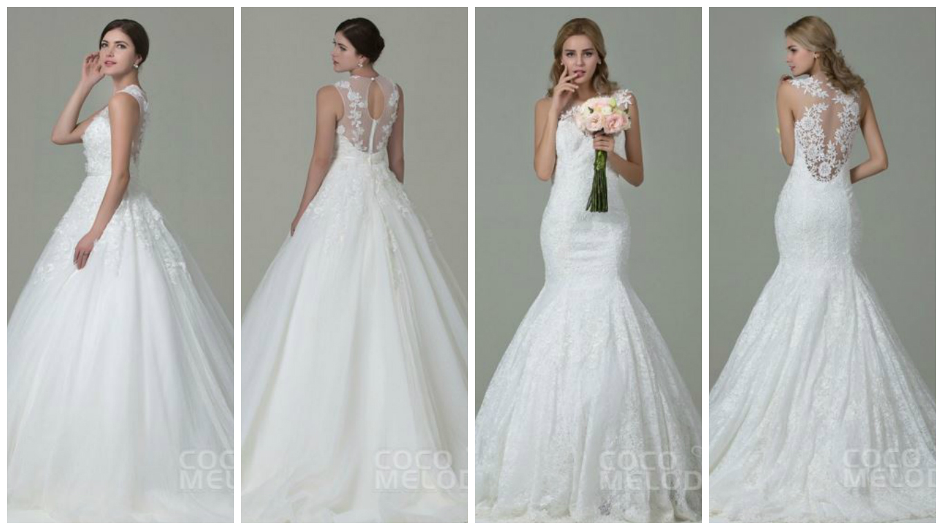 Backless Wedding Gowns: Wedding Dresses From CocoMelody
