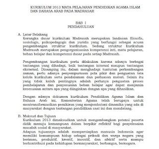 Wakil Kepala Bidan Kurikulum harus memahami betul struktur kurikulum yang diterapkan Kurikulum 2013 Mapel PAI dan Bahasa Arab pada Madrasah