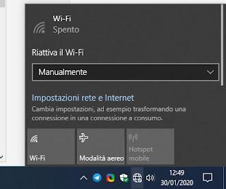 Connessione assente