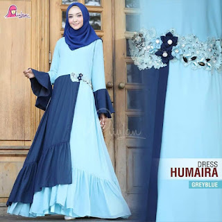 dress humaira greyblue