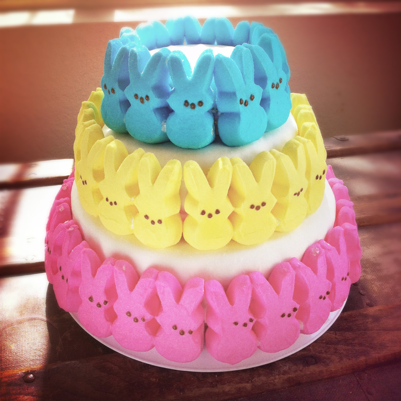 The Full Time Wife: Easter Cake Idea: Tower Of Bunnies