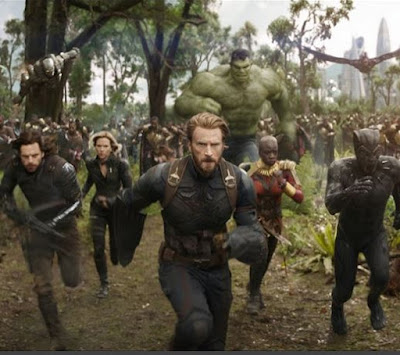 What is the name of the mindless alien species that Thanos sent to fight the Avengers in Wakanda?