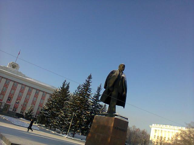V.I. Lenin. Russia. Barnaul foto