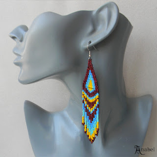 beaded earrings seed bead jewelry anabel27 beadwork beading boho