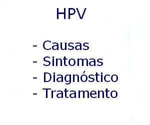 HPV causas sintomas diagnóstico tratamento prevenção riscos complicações