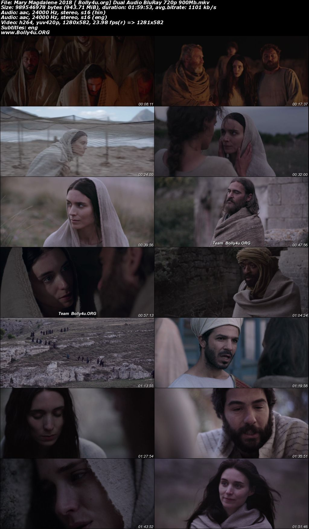 Mary Magdalene 2018 BluRay 400Mb Hindi Dual Audio 480p Download