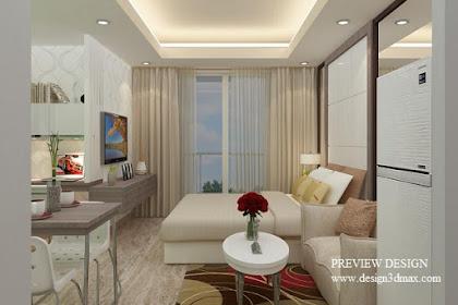 Jasa Desain Apartemen Type Studio Tanpa Sekat