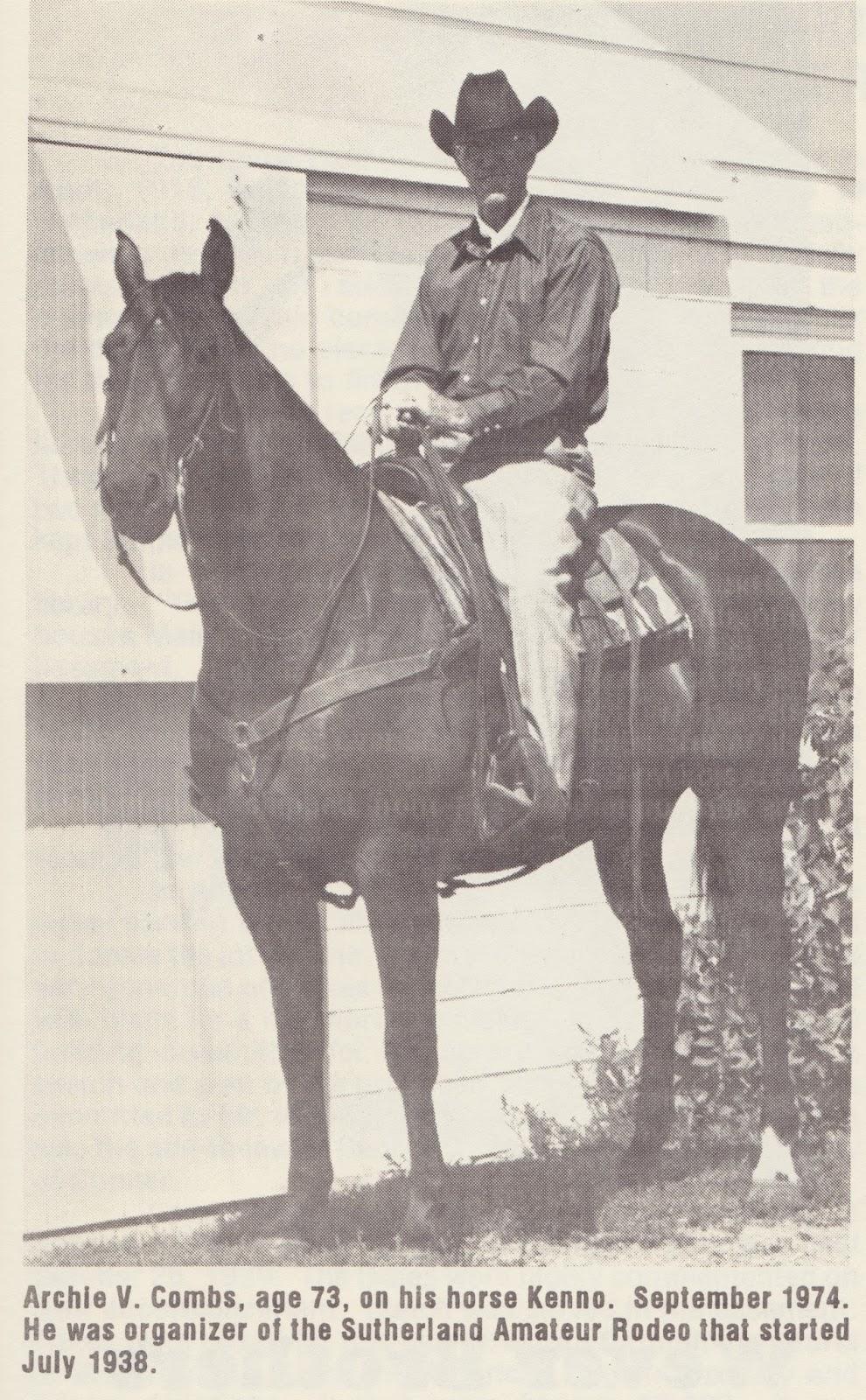 Sunday Stories Sutherland Rodeo History