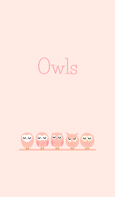 Owls Theme pink