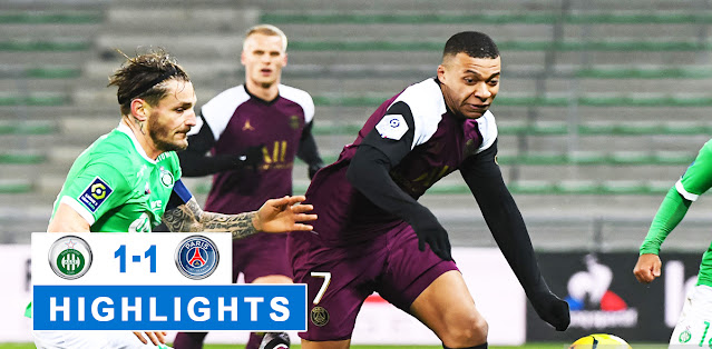 Saint-Étienne vs Paris Saint Germain – Highlights
