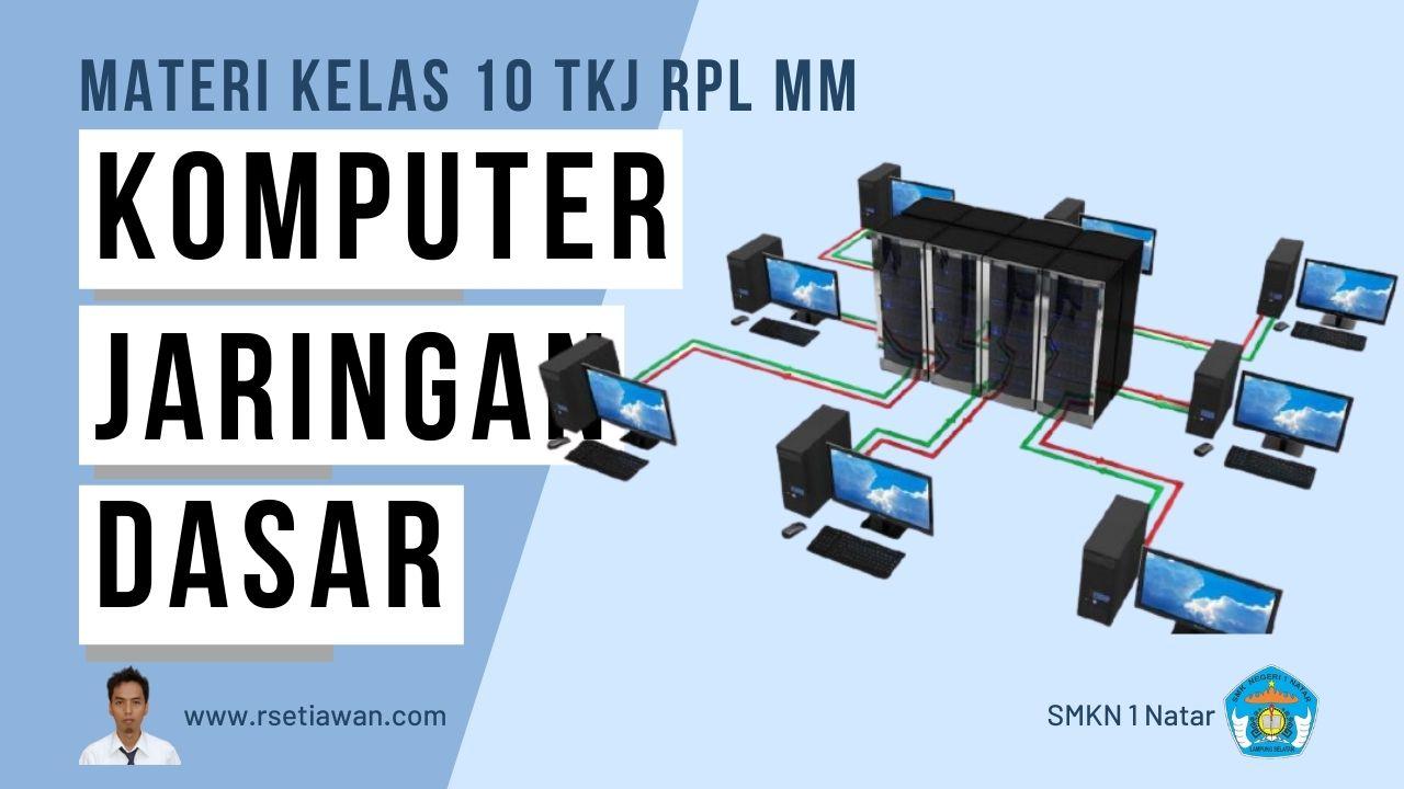 Komputer dan Jaringan Dasar kelas 10 TKJ MM RPL