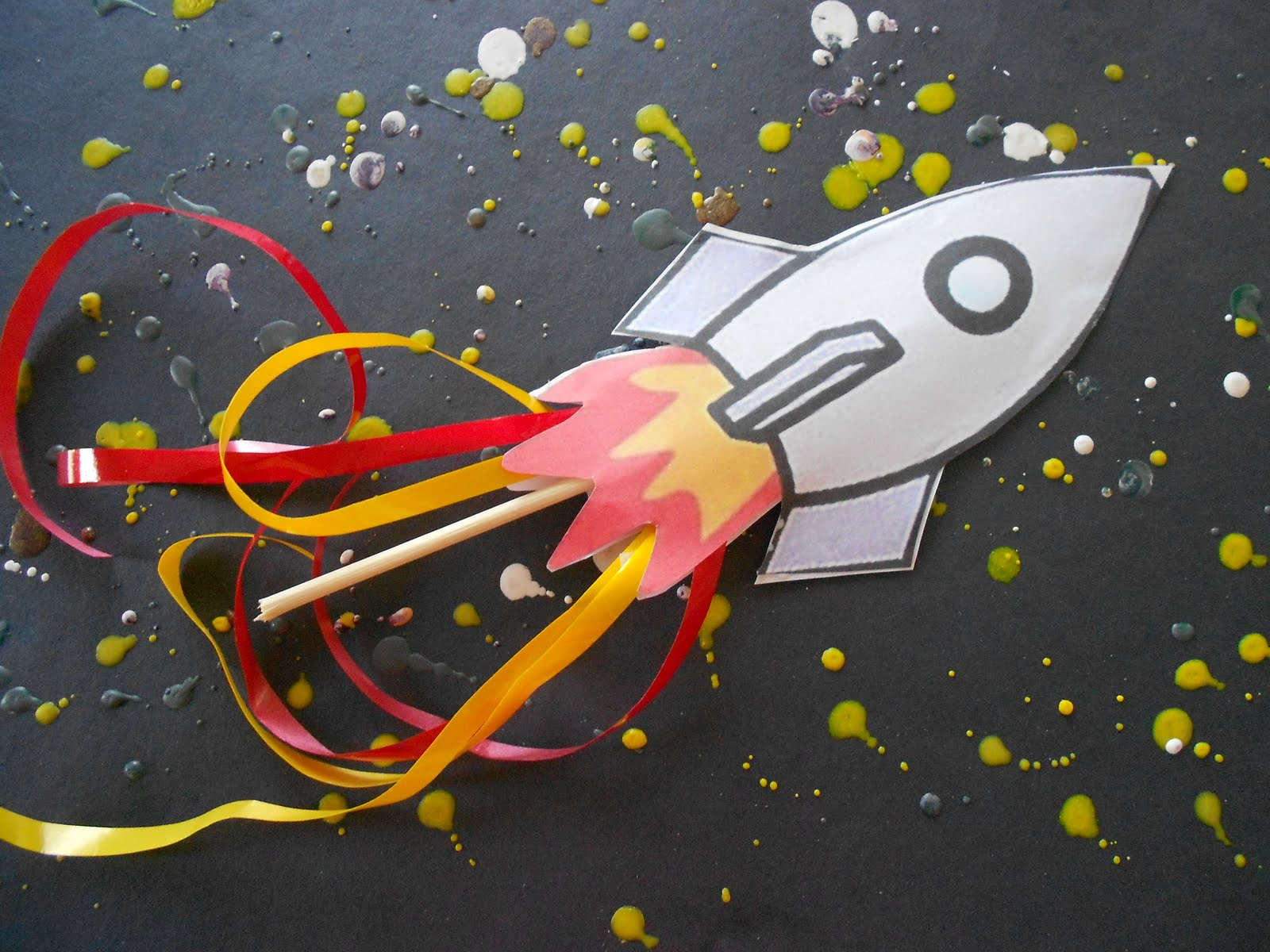 Almost Unschoolers One Last Blast Off Story And Craft
