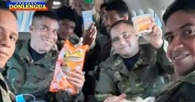Con Cheetos y Pirulín recibieron a los 8 soldados malandros liberados por las FARC