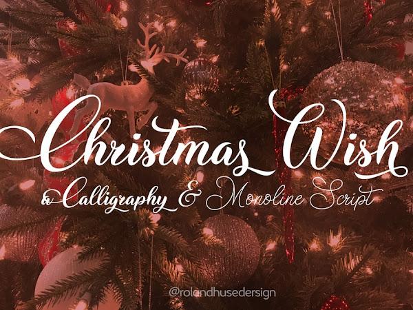 Christmas Wish Calligraphy Font
