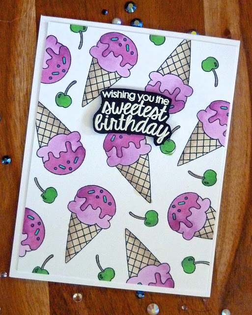 Wishing you the sweetest birthday by Joyce M. features Summer Scoops by Newton's Nook Designs; #newtonsnook