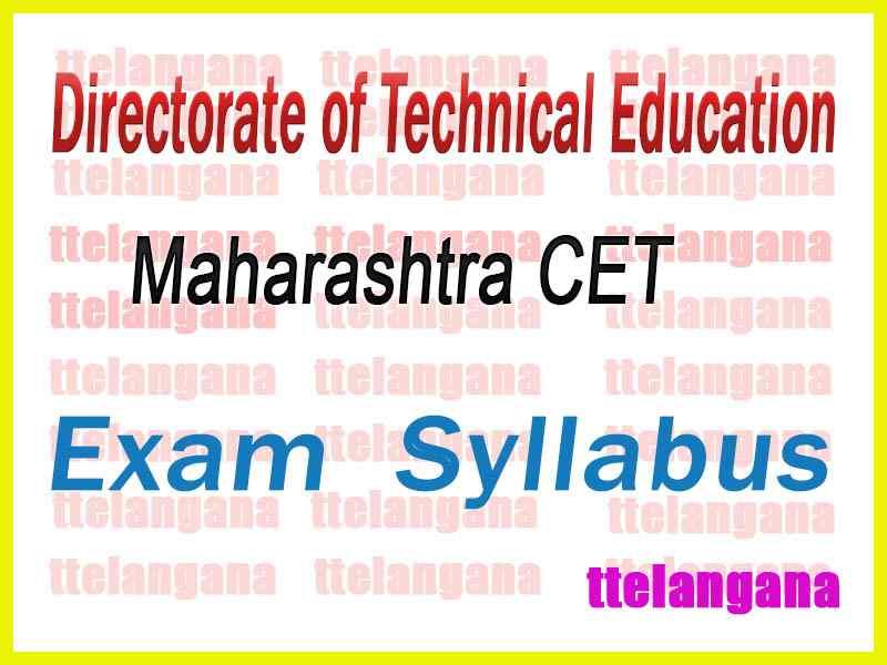 Maharashtra Common Entrance Test Syllabus