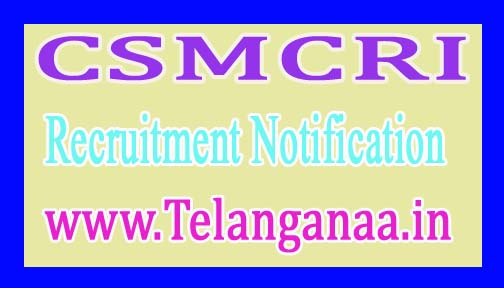 Central Salt & Marine Chemicals Research Institute CSMCRI Recruitment Notification 2017