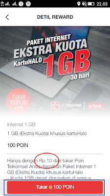 ektra pekat data 1gb dari telkomsel kartu halo