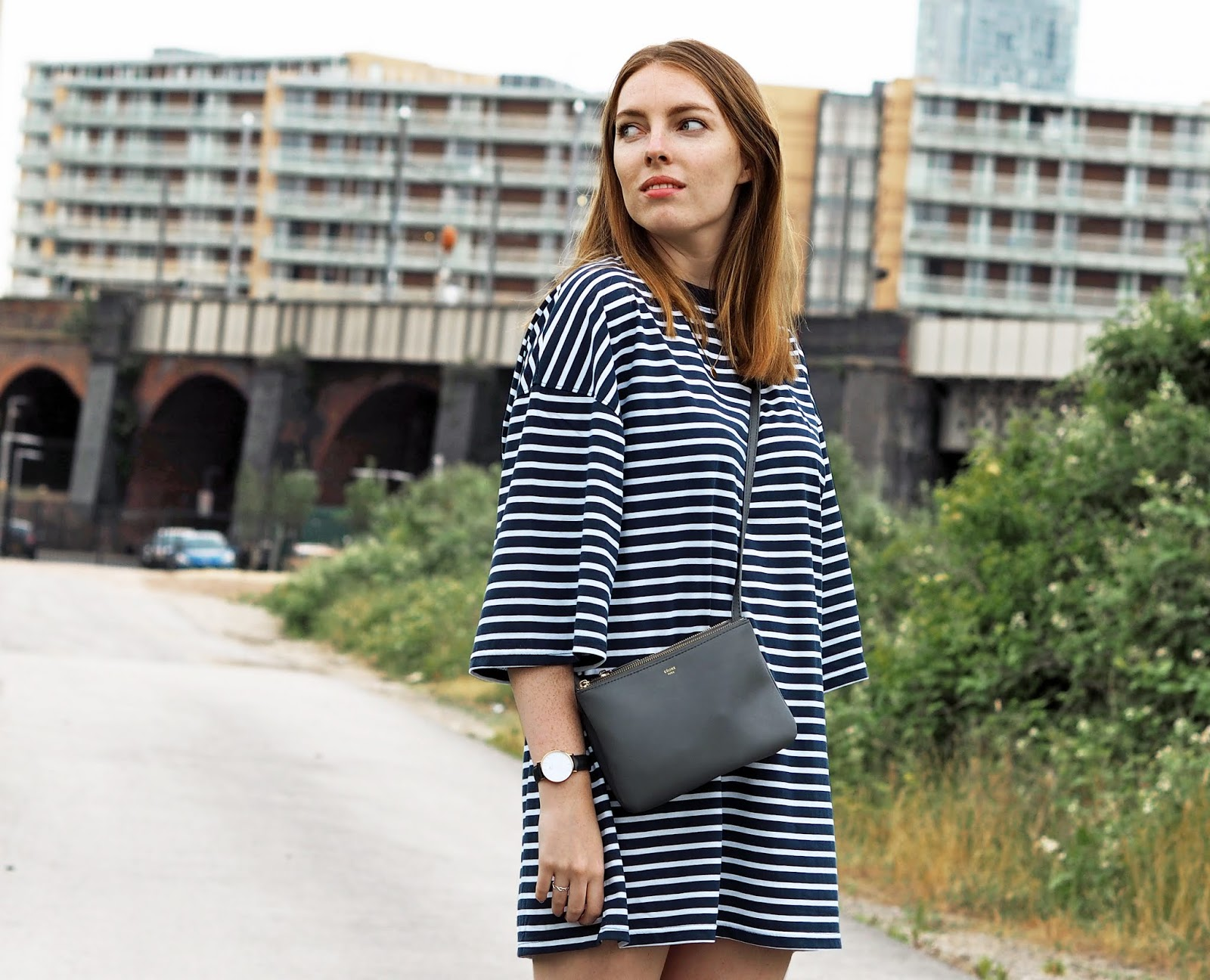 missguided striped t-shirt dress