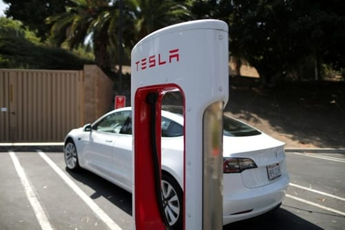 The electric car maker exceeds expectations