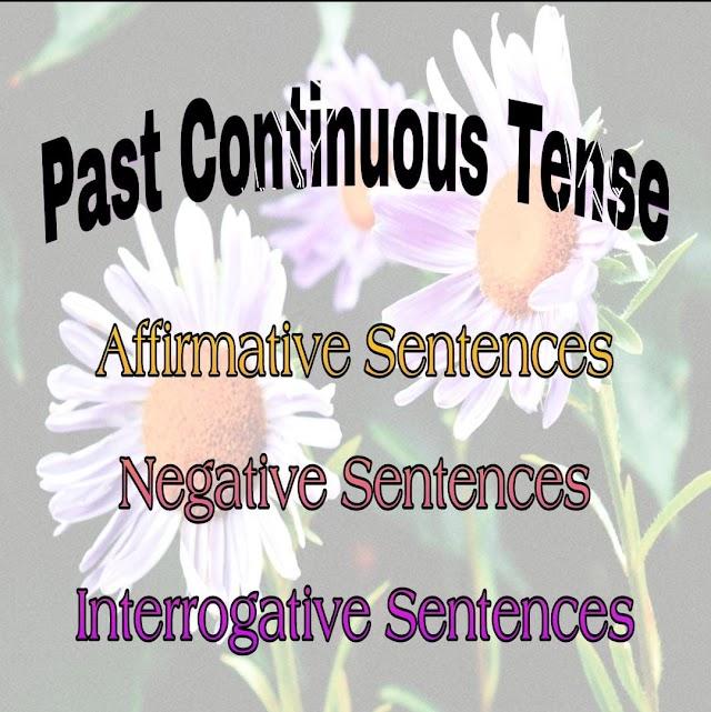 Past Continuous Tense: Affirmative, Negative & Interrogative Sentences