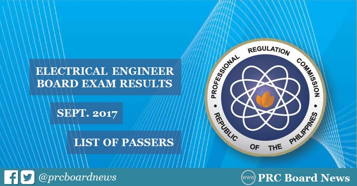 electrical engineer board exam results 2017