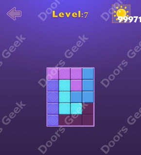 Cheats, Solutions, Walkthrough for Move Blocks Easy Level 7