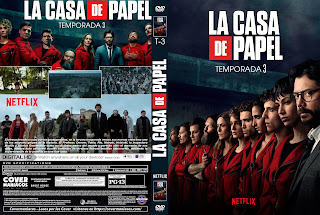 [SERIE NETFLIX] LA CASA DE PAPEL - TEMPORADA 3 - 2019 [COVER DVD]