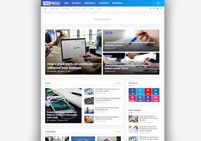 OnePress Blogger Template Responsive Seo Optimized