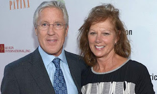 Glena Goranson with her husband Pete Carroll