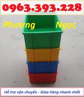 Thùng nhựa đặc B3, sóng nhựa bít, thùng nhựa đựng linh kiện, hộp nhựa công nghiệp