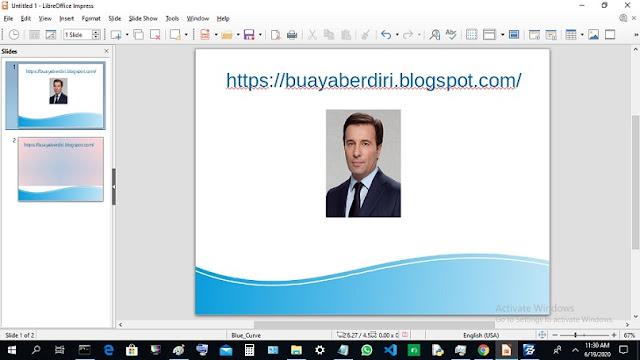 Menampilkan gambar di Libre Office Impress Presentation