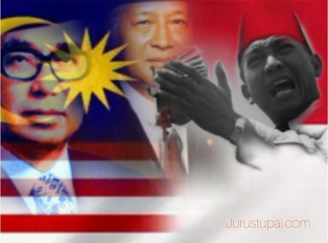 Tun Razak- Soeharto-Soekarno