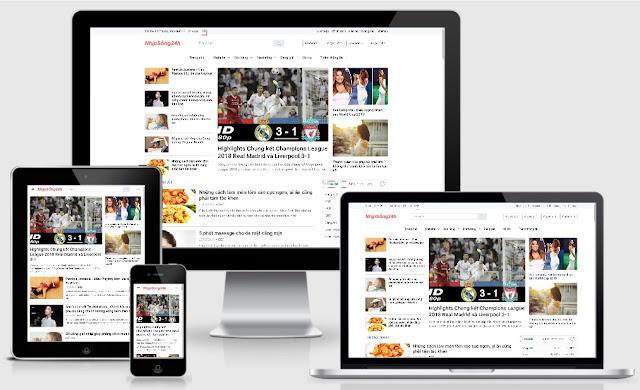 Mẫu Template Blogspot mới 2020 tải nhanh tối ưu SEO