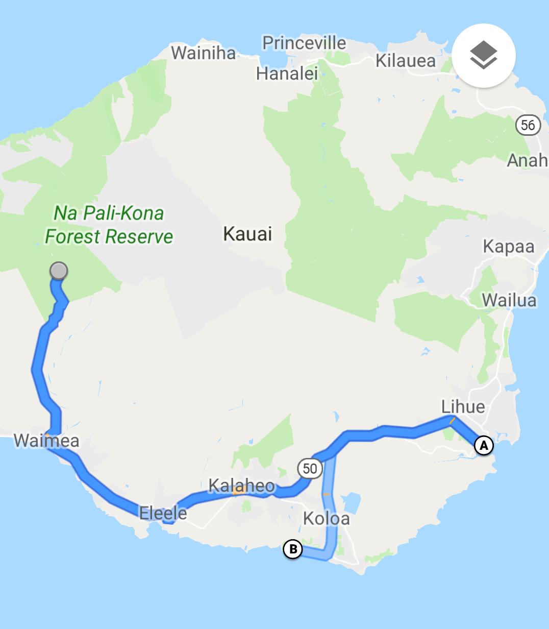 kauai bus route map Jim And Kim S Travels The Beautiful Island Of Kauai kauai bus route map