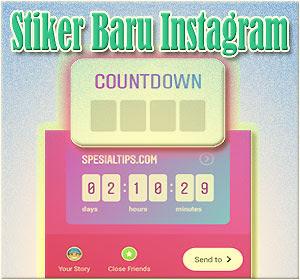 Stiker Baru Instagram Countdown