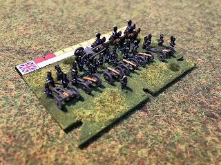 A Royal Horse Artillery battery in 6mm