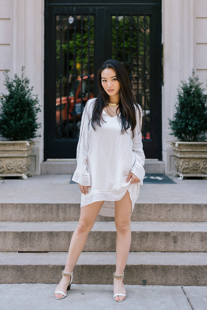 gentle fawn little white dress