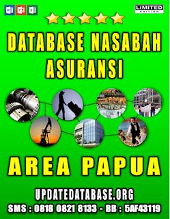 Jual Database Nasabah Asuransi Papua