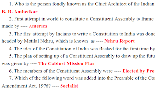 Indian Constitution-1500+ Que and Ans