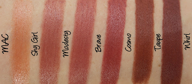 MAC Permanent Nude & Neutral Lipstick Swatches & Review Part Two