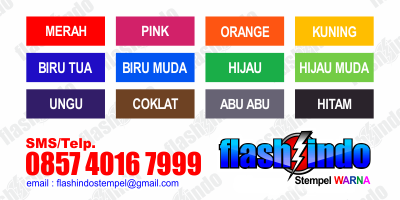 pilihan produk stempel murah, pilihan produk stempel murah warna, pilihan produk stempel murah flashindo