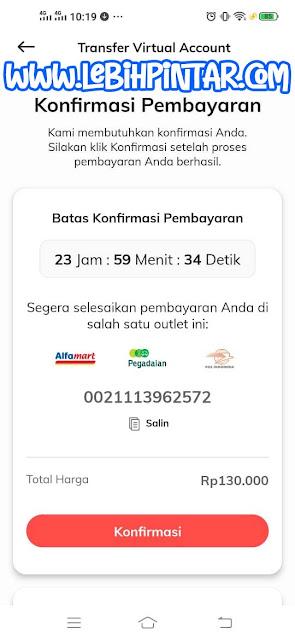 proses pembayaran pembelian kuota telkomsel orbit di kasir alfamart