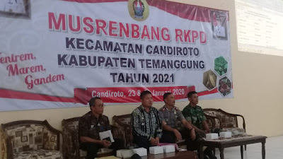 Danramil 05/Candiroto Hadiri Musrenbang RKPD Kecamatan Candiroto