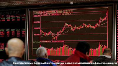 Криптовалютные биржи сообщили о притоке новых пользователей на фоне коронавируса