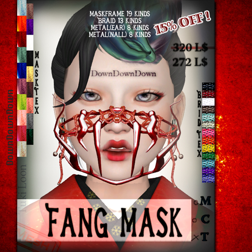 DownDownDown fang mask