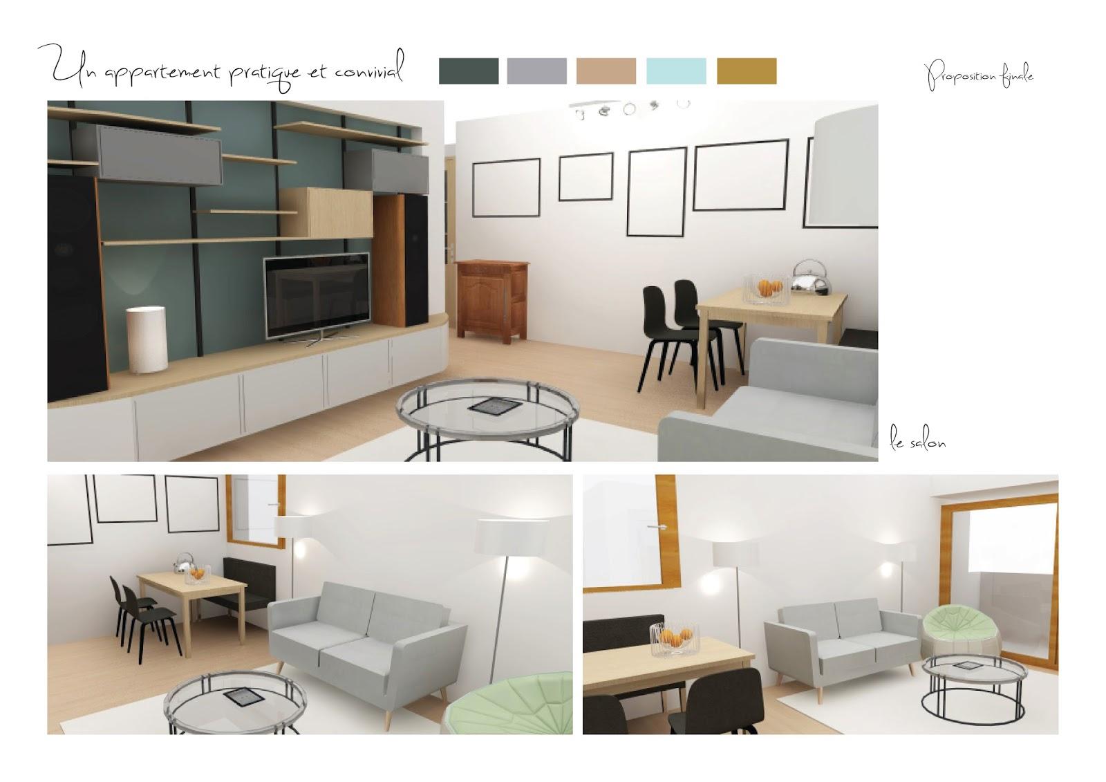 Adc l 39 atelier d 39 c t am nagement int rieur design d for Simulation 3d salon