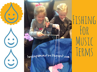 Music Carnival Game: Fishing for Music Terms, a group piano teaching activity